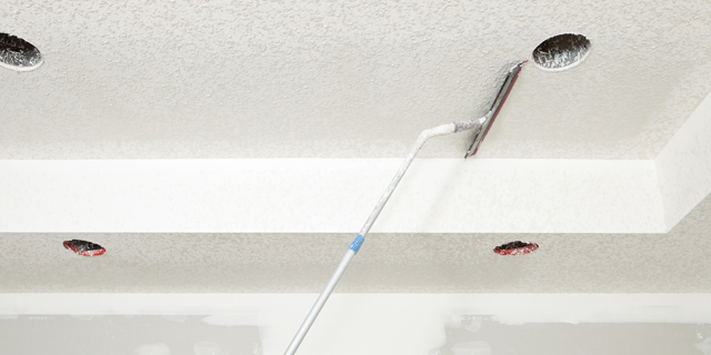 Removing Popcorn Ceiling That Has Been Painted