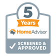 HomeAdvisor 5 years screened and approved