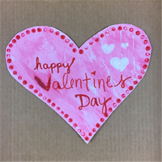 Sponge Heart Valentine Craft