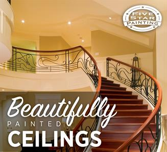 Make a statement in your home with a beautifully painted ceiling