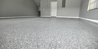 garage coating floor cabinets final