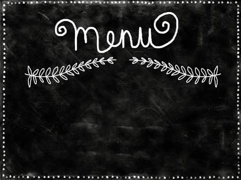 "Chalkboard with the word ""Menu"" Written on it"