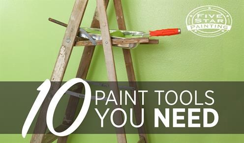 Paint tools needed for DIY projects