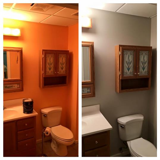 bathroom paint makeover remodel