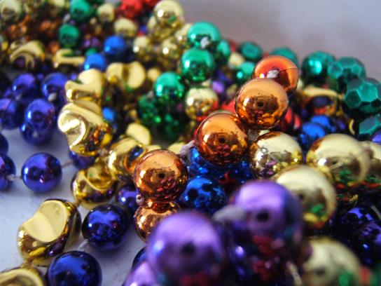mardi gras beads gold green purple