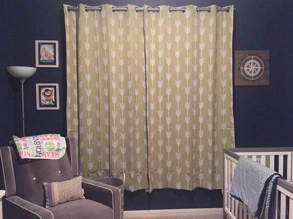 dark colors in baby room