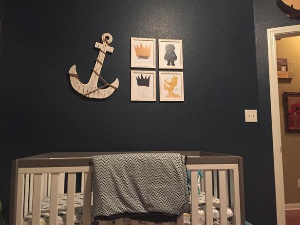 dark blue nursery baby
