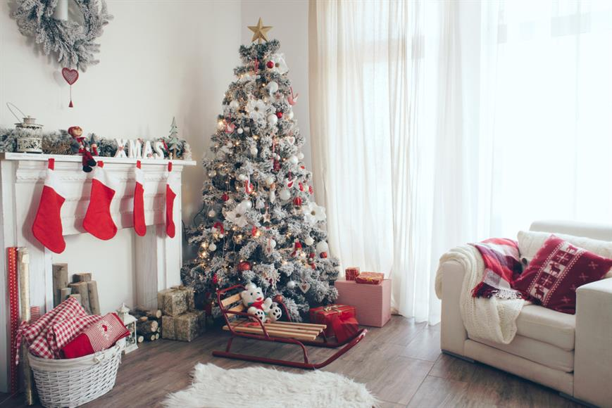 Christmas tree in home