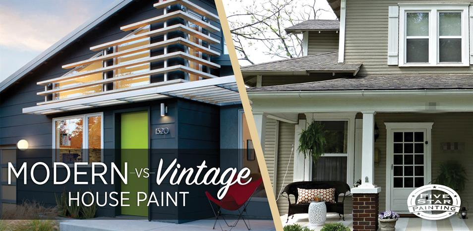 Modern vs. Vintage House Paint Colors on Modern House Painting  id=64544
