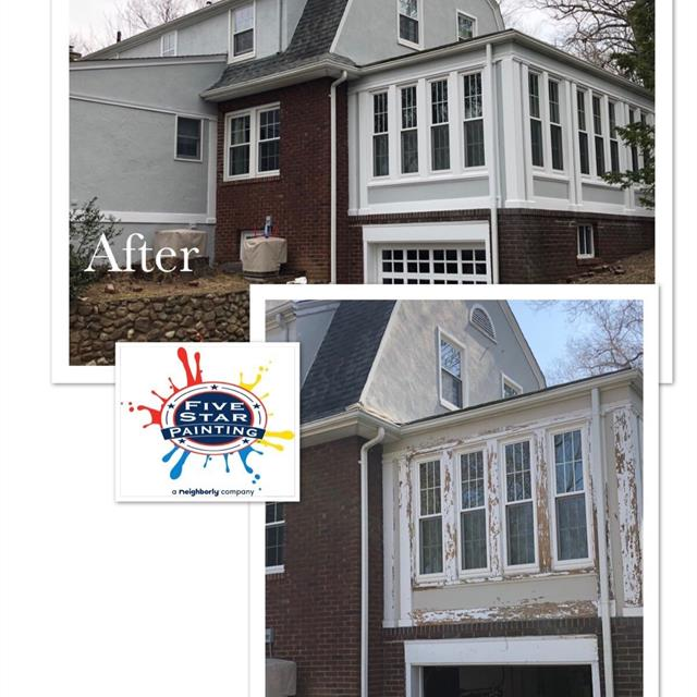 Before and after back exterior