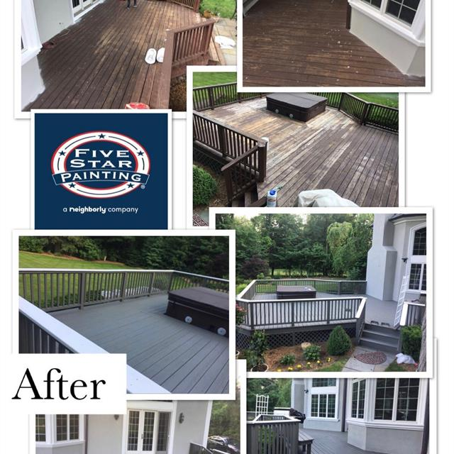 Before and after Exterior Deck