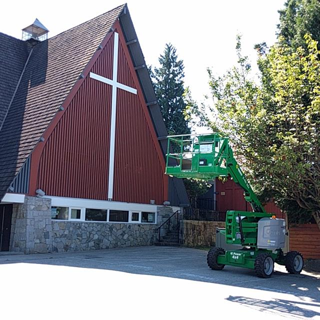 Church exterior painting