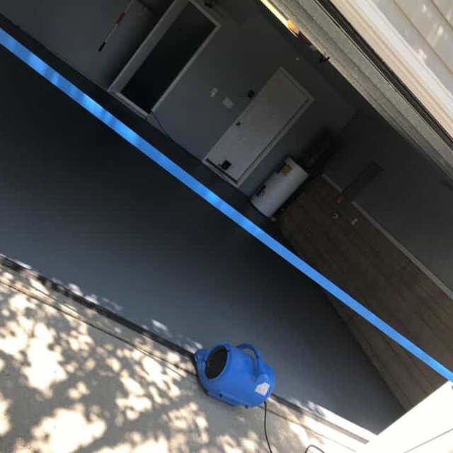 Garage floor with epoxy flooring