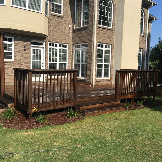 exterior home with stained deck
