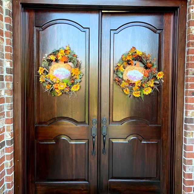 Wood stained door