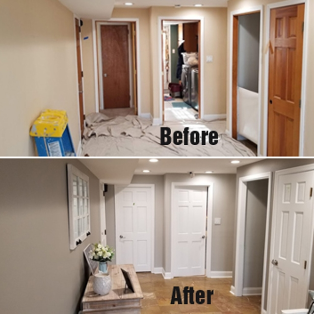 before after white hallway