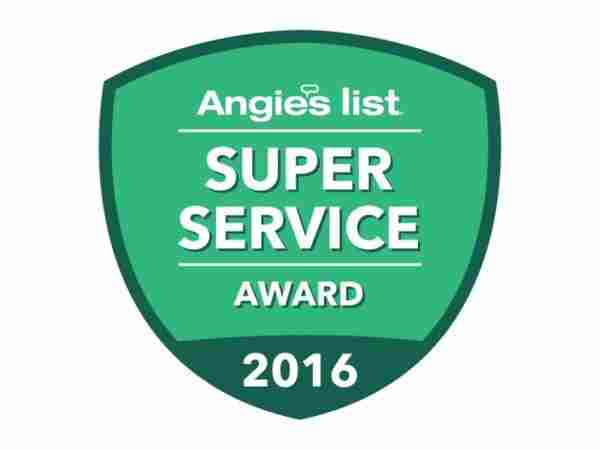 Angies list super service award 2016 Badge