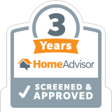 HomeAdvisor Screened & Approved 3 Years Badge