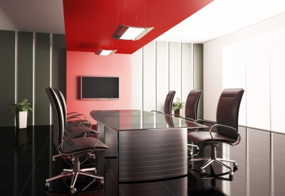 Decoraing with Red: Workplace