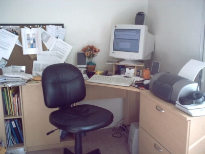 Messy, Cluttered Home Office