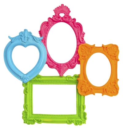 Brightly Colored Picture Frames
