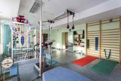 Gym with rubber flooring