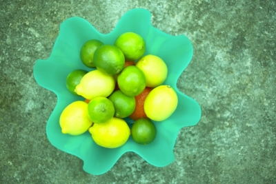 Lemons and Limes in a Fruit Bowl