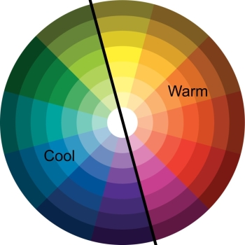 color wheel warm and cool colors