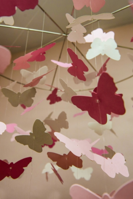 Paper Butterfly Mobile Decoration