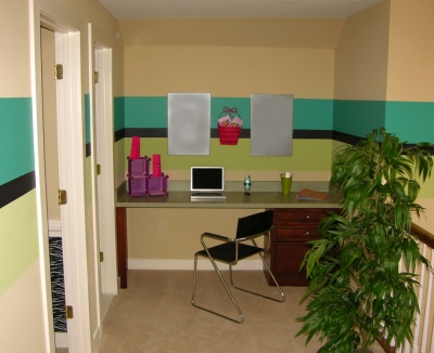 Children's Study Space with Magnetic Board on Wall