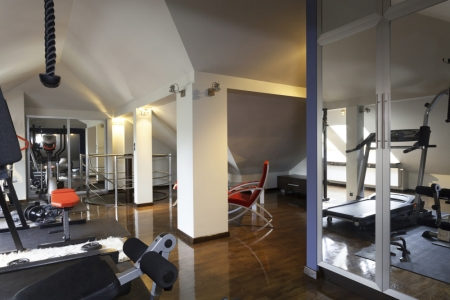 Spacious home gym