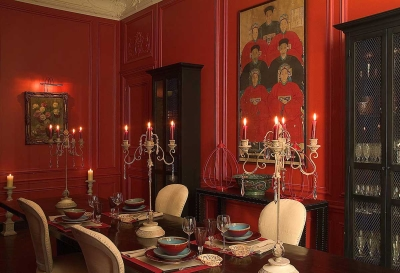 Decoraing with Red: Dining Room