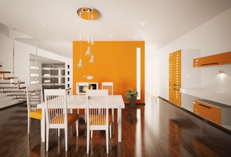 Bright Dining Room Colors: Orange