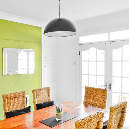 Bright Dining Room Colors: Green