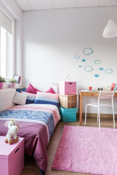 Pink and White Tween Bedroom