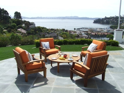 Wood Is A Great Soft Material For Patio Furniture That Adds Beauty And  Value To Any Outdoor Deck. However, The Sun And Rain Can Really Fade Wooden  Patio ...