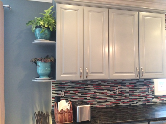 painted cabinets white gloss