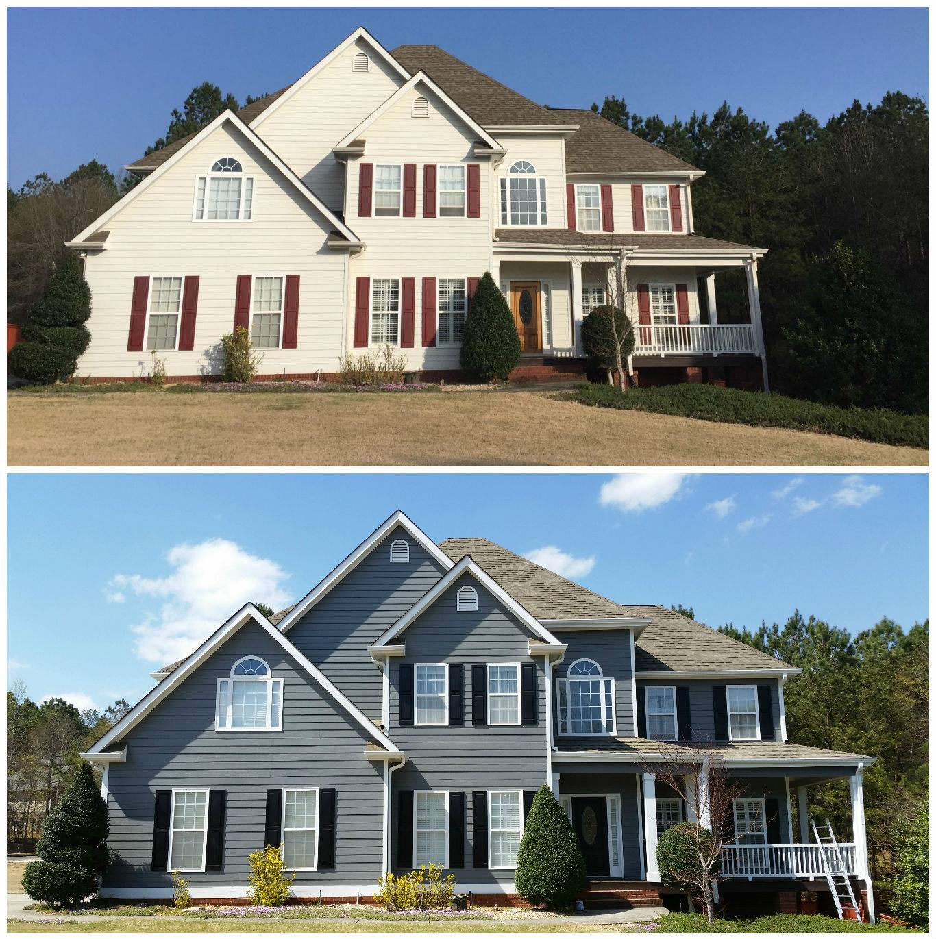 Before & After Exterior Residential Painting