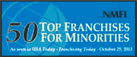 50 Top Franchises for Minorities Logo