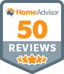 50 reviews on HomeAdvisor badge