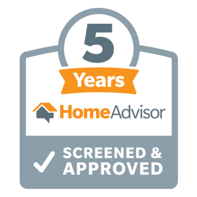 Five Years Home Advisor Screened and Approved Badge