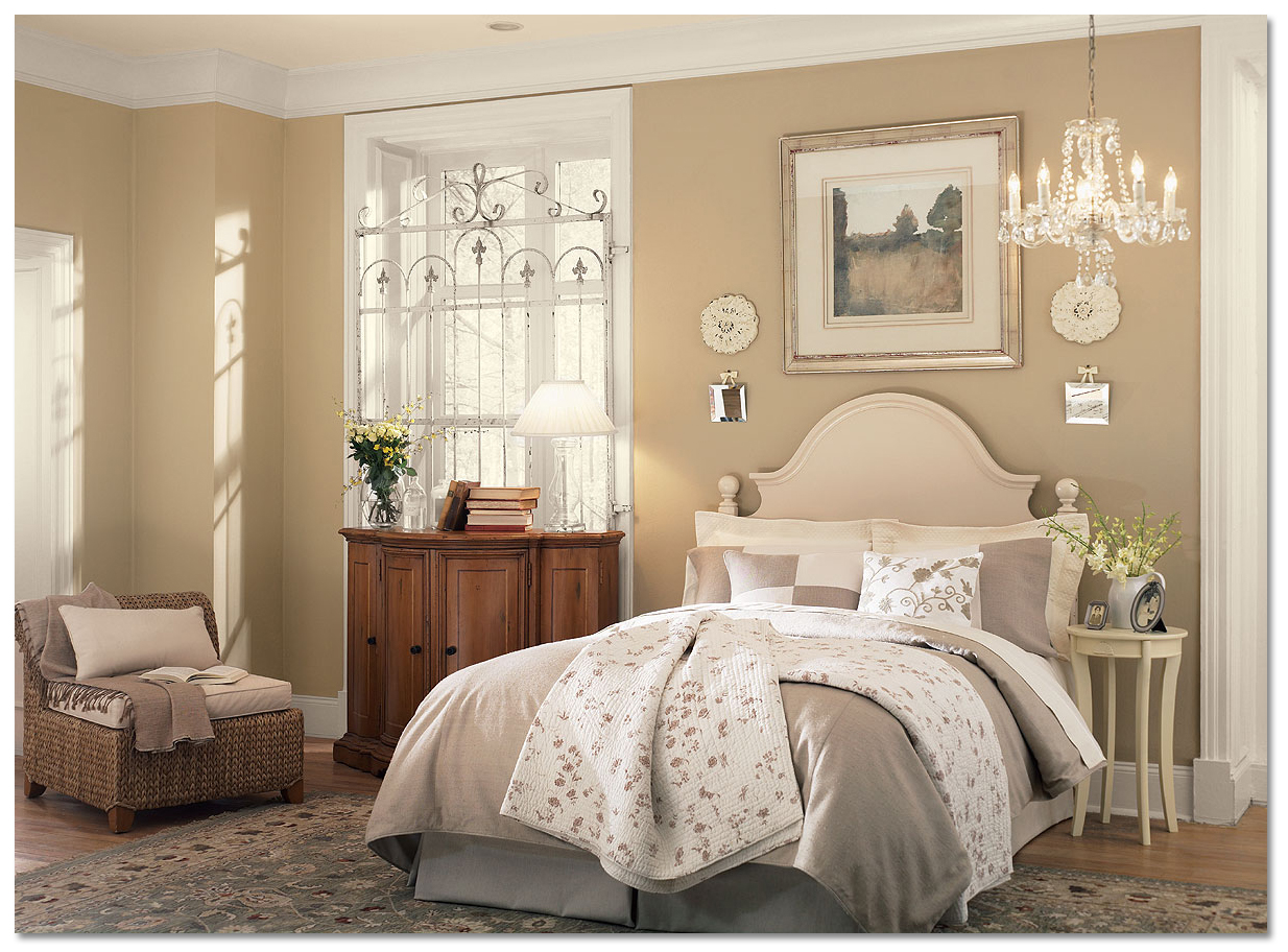 Benjamin Moore Neutral Bedroom Offers Paint Color