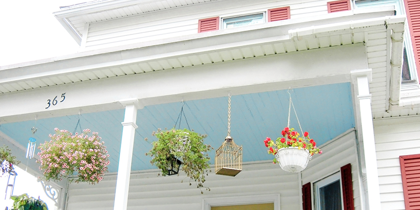 Blue Porch Ceilings