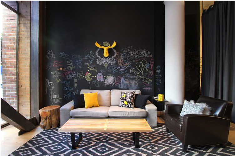 Chalkboard Wall in Home