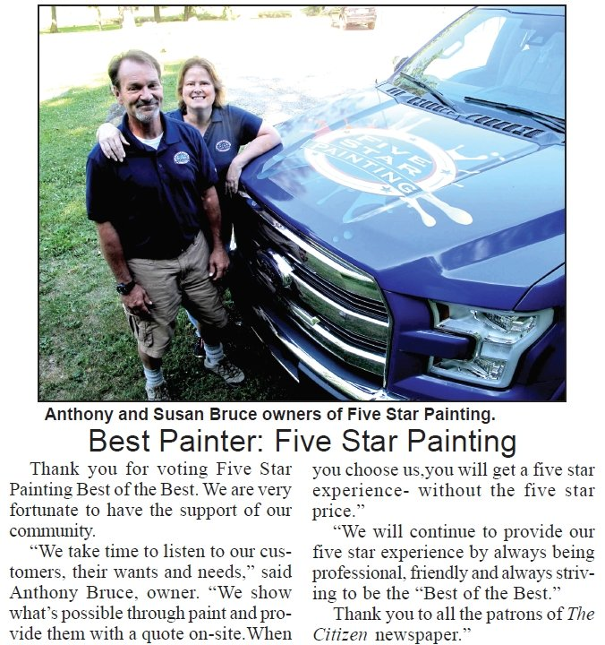 The Citizen Best Painter: Five Star Painting