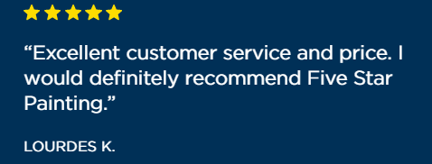 """excellent customer service and price"" - 5 star review, Lourdes K"